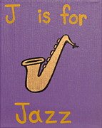 Letter J Posters - J is for Jazz Poster by Erica Ross