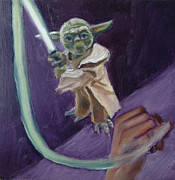 Jedi Painting Posters - J is for Jedi Poster by Jessmyne Stephenson
