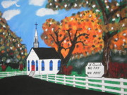 Black Top Painting Posters - J K Church Poster by Jeffrey Koss