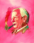 Fan Art Painting Originals - J. R. R. Tolkien Portrait with Orodruin Pipe by Jason  Wright