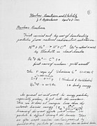 D.w. Prints - J. Robert Oppenheimers Equations Print by Science Source