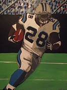 Panthers Painting Prints - J Stew RUMBLIN Print by Simon Hardesty