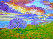 Light Of The World Paintings - Jacaranda Maui by Tamara Tavernier