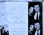 1963 Posters - Jack and Jackie in Life Magazine Poster by Marsha Heiken
