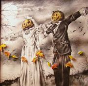 Michael Lee Summers Metal Prints - Jack and Sally Metal Print by Michael Lee Summers