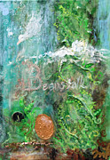 Giants Mixed Media Posters - Jack and the Beanstalk Poster by Jennifer Kelly