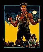 Art Drawings Drawings Framed Prints - Jack Burton Framed Print by Jeff DOttavio