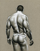 Muscle Drawings Metal Prints - Jack Metal Print by Chris  Lopez