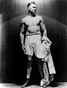 Barechested Prints - Jack Dempsey, Circa 1920s Print by Everett