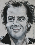 Celebrity Portrait Drawings Posters - Jack  Poster by Eric Dee