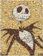 Skelington Prints - Jack Halloween Mosaic Print by Paul Van Scott