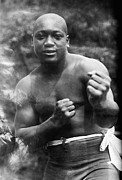 Boxing Photo Framed Prints - Jack Johnson (1878-1946) Framed Print by Granger
