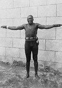 Heavyweight Prints - Jack Johnson 1878-1946 Heavyweight Print by Everett