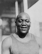 Heavyweight Prints - Jack Johnson 1878-1946 Was The First Print by Everett