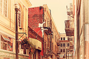 Old Postcards Prints - Jack Kerouac Street San Francisco . 7D7437 Print by Wingsdomain Art and Photography
