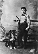 Novelist Framed Prints - Jack London (1876-1916) Framed Print by Granger