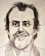 Anger Drawings Prints - Jack Nicholson Print by Donald William
