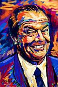 Sue Brehant Framed Prints - Jack Nicholson  Framed Print by Sue  Brehant