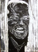 Biographies Prints - Jack Nicholson...Heres Johnny Print by Cynthia Farmer