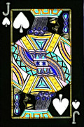 Casino Digital Art Prints - Jack of Spades - v2 Print by Wingsdomain Art and Photography