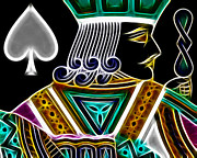 Playing Cards Digital Art - Jack of Spades - v4 by Wingsdomain Art and Photography