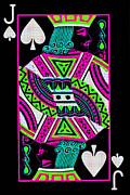 Casino Digital Art Prints - Jack of Spades Print by Wingsdomain Art and Photography