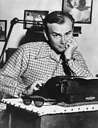 Hand On Chin Acrylic Prints - Jack Paar 1918-2004, American Radio Acrylic Print by Everett