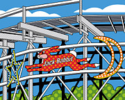Amusement Park Posters - Jack Rabbit Poster by Ron Magnes