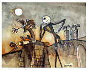 Nightmare Before Christmas Painting Prints - Jack Print by Robert Holewinski