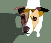 Jack Russell Digital Art - Jack Russell in sun by Michael Werner