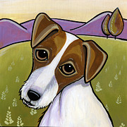 Dog Breeds Paintings - Jack Russell by Leanne Wilkes