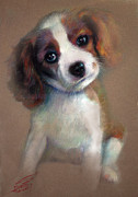 Dogs Pastels Prints - Jack Russell Terrier Dog Print by Ylli Haruni