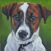 Smooth Painting Prints - Jack Russell Terrier Print by Lee Ann Shepard