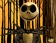 Tim Painting Metal Prints - Jack Skelington Metal Print by Tom Carlton