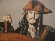 Pirates Painting Originals - Jack Sparrow by Bob Gregory
