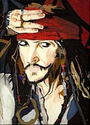 Sparrow Drawings Prints - Jack Sparrow Print Print by Deborah Lepor