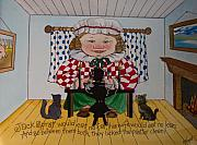 Nursery Rhyme Painting Metal Prints - Jack Spratt Metal Print by Victoria Heryet