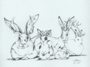 Flemish Drawings - Jackalopes by InKibus