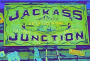 Old Signs Posters - Jackass Junction Poster by Randall Weidner