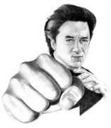 People Drawings Originals - Jackie Chan by Murphy Elliott