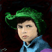 Hollywood Legend Prints - Jackie Coogan Print by Arne Hansen