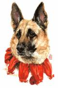 Pet Portraits Paintings - Jackie by Debra Jones