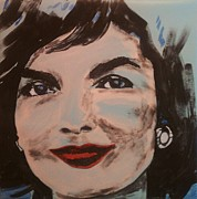 Jackie Kennedy Onassis Paintings - Jackie O by Bjorn Davidson