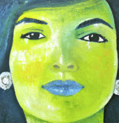 Jackie Kennedy Onassis Paintings - Jackie O by Rene Romero Schuler