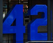 New York Mets Stadium Digital Art Posters - Jackie Robinson 42 Poster by Rob Hans