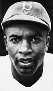 Baseball Cap Framed Prints - Jackie Robinson, Brooklyn Dodgers, 1947 Framed Print by Everett