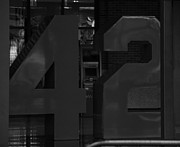 New York Baseball Parks Digital Art - JACKIE ROBINSON in BLACK AND WHITE by Rob Hans