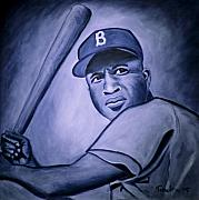 Jackie Robinson Paintings - Jackie Robinson by Tabetha Landt-Hastings
