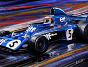 David Kyte Prints - Jackie Stewart in the Rain Print by David Kyte