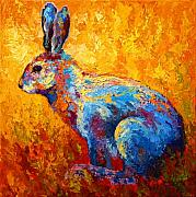 Bunnies Framed Prints - Jackrabbit Framed Print by Marion Rose